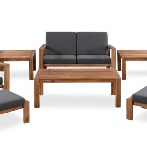AEGEAN 6 Piece Outdoor Sofa Timber Set
